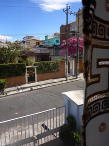 This is the view from home today. A street in Quito, thousands of miles from my home in New Jersey.