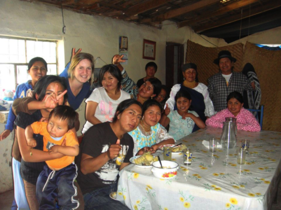 Inside my homestay with (almost) all of my host family (yes, there's more)