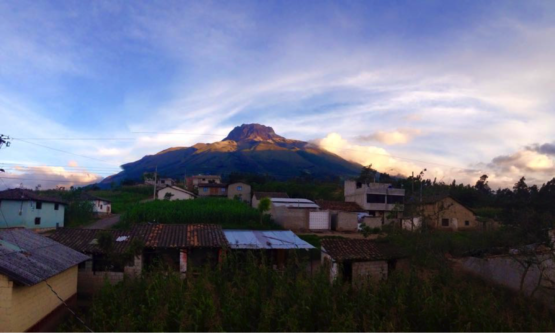 My Ecuadorian home, San Roque, perched on the side of the Imbabura volcano