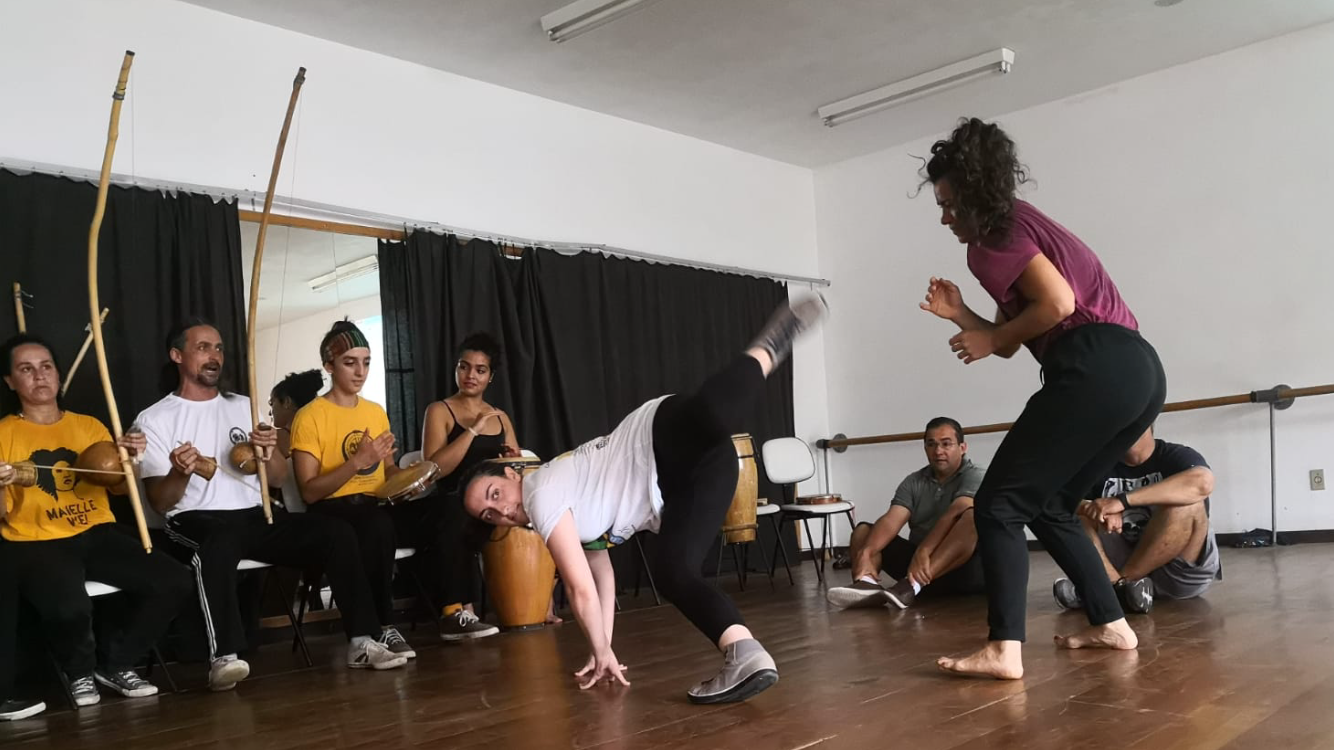 Grappling with Gravity: Capoeira
